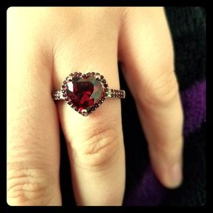 Red heart ring (price FIRM)